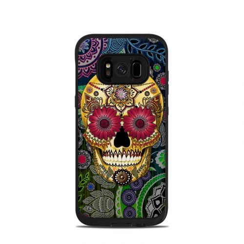 Sugar Skull Paisley LifeProof Galaxy S8 fre Case Skin