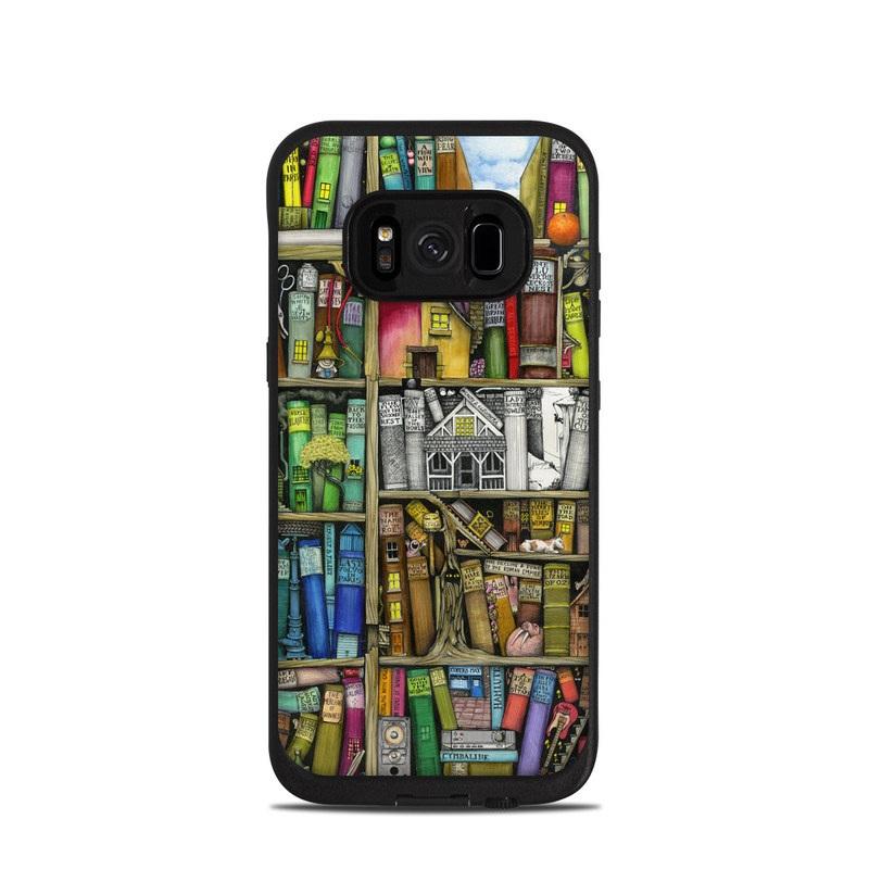 Bookshelf LifeProof Galaxy S8 fre Case Skin