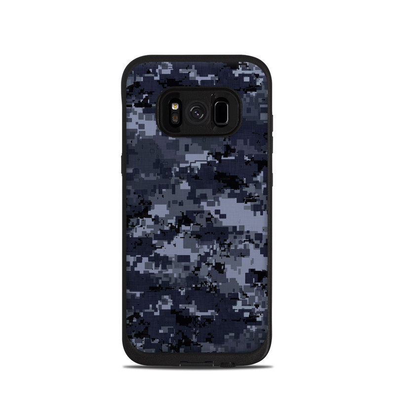 Digital Navy Camo LifeProof Galaxy S8 fre Case Skin