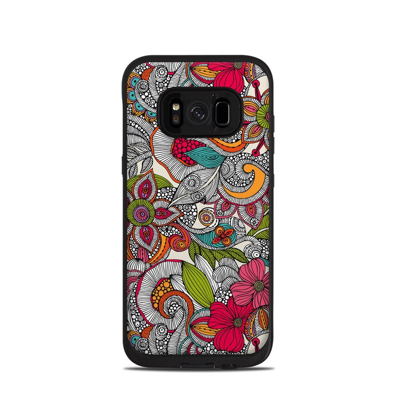 Doodles Color LifeProof Galaxy S8 fre Case Skin