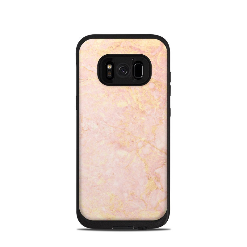 LifeProof Galaxy S8 fre Case Skin design of Pink, Peach, Wallpaper, Pattern with pink, yellow, orange colors