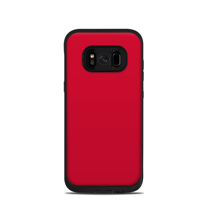 Solid State Red LifeProof Galaxy S8 fre Case Skin