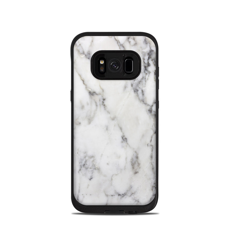 White Marble LifeProof Galaxy S8 fre Case Skin