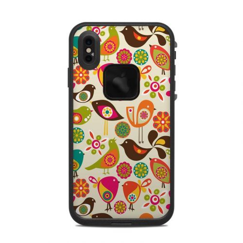 Bird Flowers LifeProof iPhone XS Max fre Case Skin