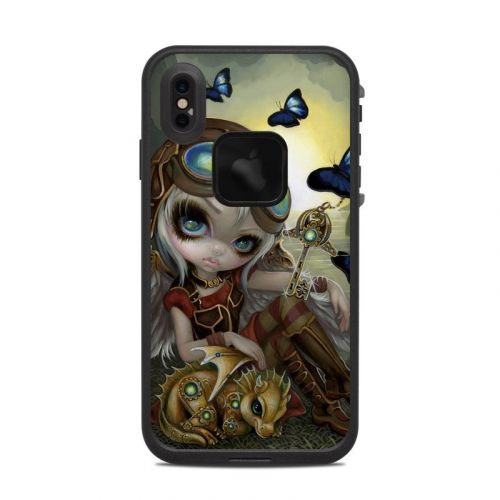 Clockwork Dragonling LifeProof iPhone XS Max fre Case Skin
