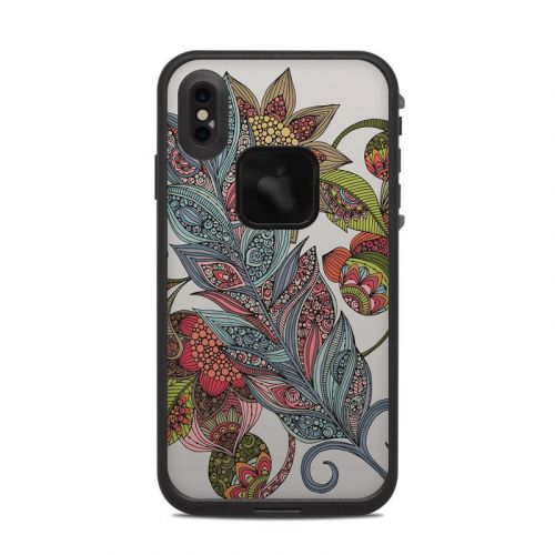 Feather Flower LifeProof iPhone XS Max fre Case Skin