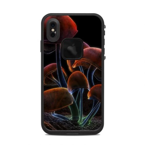 Fluorescence Rainbow LifeProof iPhone XS Max fre Case Skin