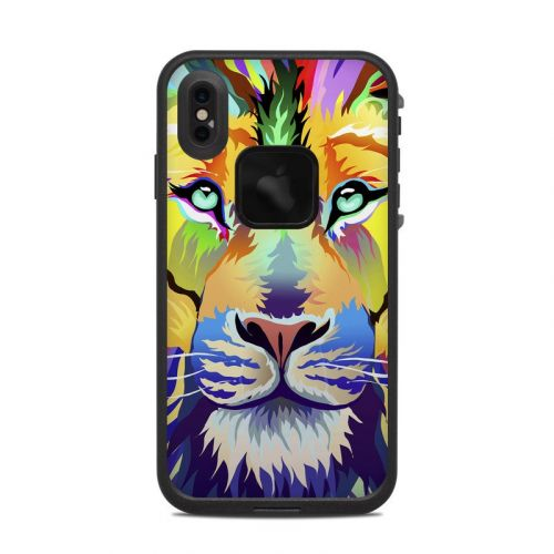 King of Technicolor LifeProof iPhone XS Max fre Case Skin