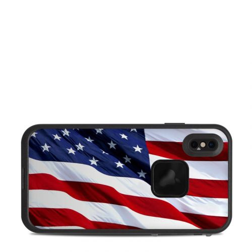 Patriotic LifeProof iPhone XS Max fre Case Skin