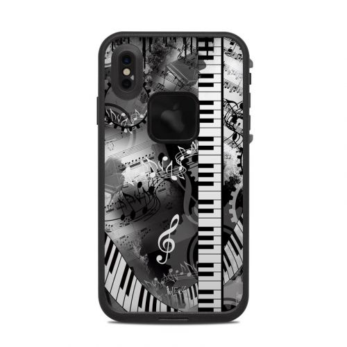 Piano Pizazz LifeProof iPhone XS Max fre Case Skin