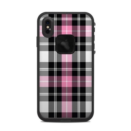 Pink Plaid LifeProof iPhone XS Max fre Case Skin