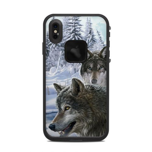Snow Wolves LifeProof iPhone XS Max fre Case Skin