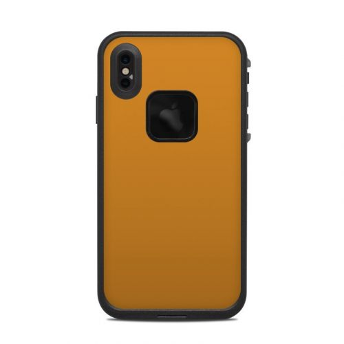 Solid State Orange LifeProof iPhone XS Max fre Case Skin