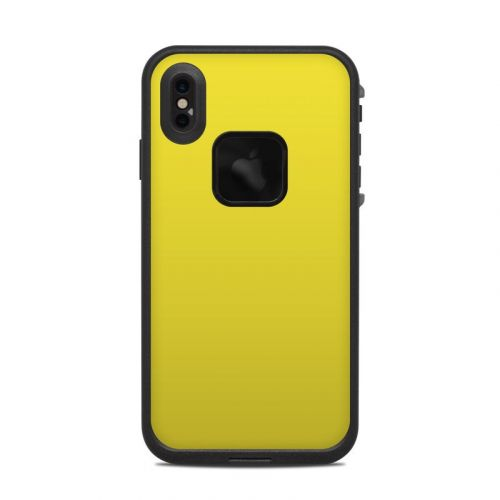 Solid State Yellow LifeProof iPhone XS Max fre Case Skin