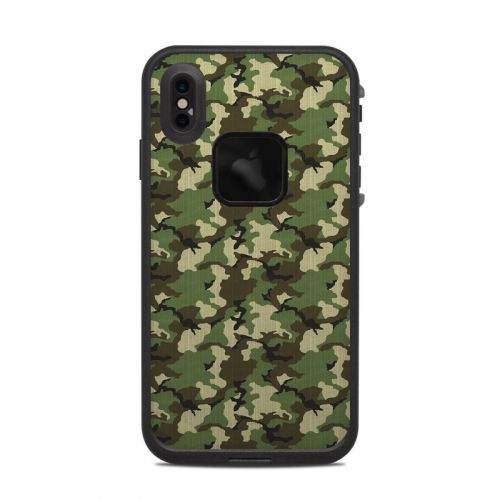 Woodland Camo LifeProof iPhone XS Max fre Case Skin