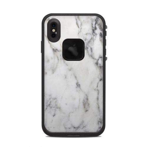 White Marble LifeProof iPhone XS Max fre Case Skin