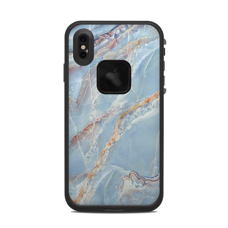 LifeProof iPhone XS Max fre Case Skin design of Blue, Azure, Aqua, Onyx with blue, red, orange, white colors