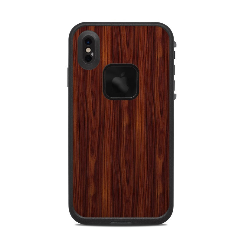 LifeProof iPhone XS Max fre Case Skin design of Wood, Red, Brown, Hardwood, Wood flooring, Wood stain, Caramel color, Laminate flooring, Flooring, Varnish with black, red colors
