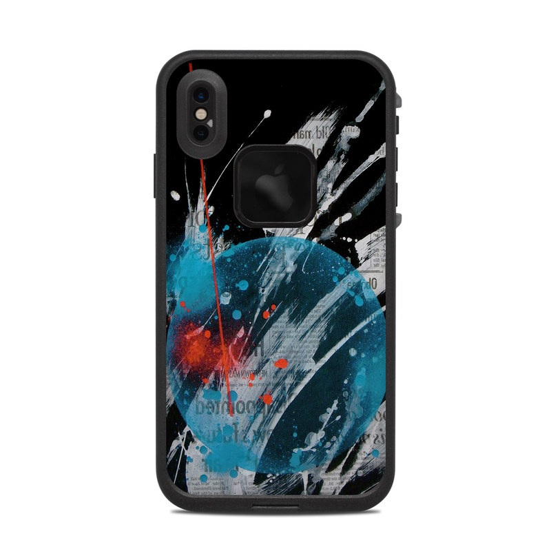 LifeProof iPhone XS Max fre Case Skin design of Graphic design, Illustration, Graphics, Design, Art, Space, World with black, gray, blue, red colors