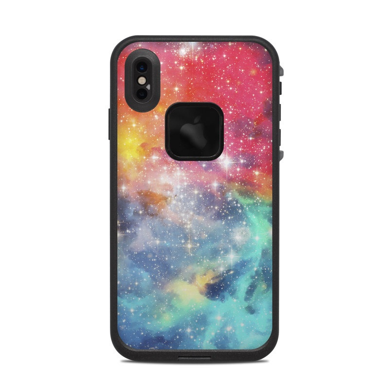 LifeProof iPhone XS Max fre Case Skin design of Nebula, Sky, Astronomical object, Outer space, Atmosphere, Universe, Space, Galaxy, Celestial event, Star with white, black, red, orange, yellow, blue colors