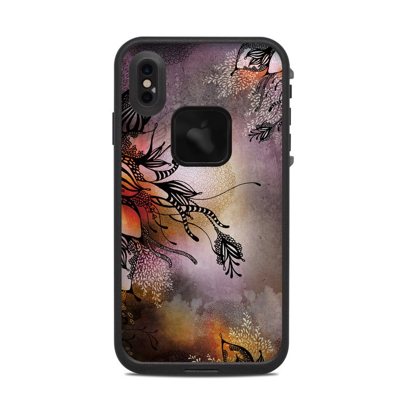 LifeProof iPhone XS Max fre Case Skin design of Illustration, Graphic design, Cg artwork, Art, Fictional character, Graphics, Visual arts, Darkness with black, gray, red, green, purple colors
