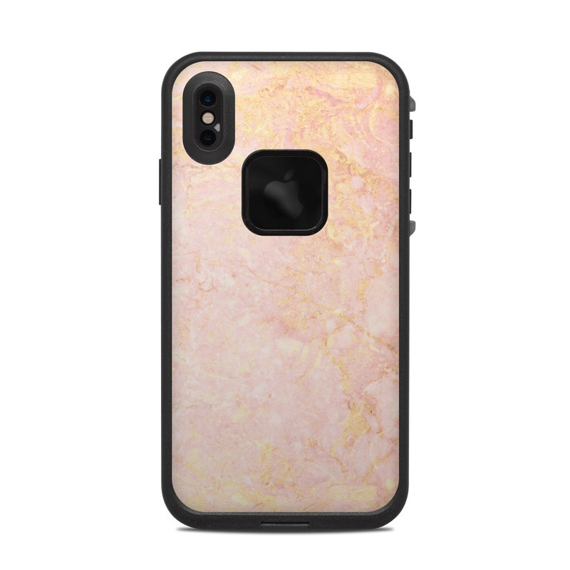 Rose Gold Marble LifeProof iPhone XS Max fre Case Skin