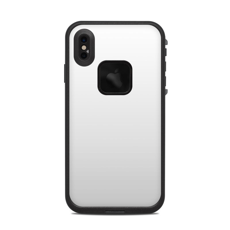 LifeProof iPhone XS Max fre Case Skin design of White, Black, Line with white colors