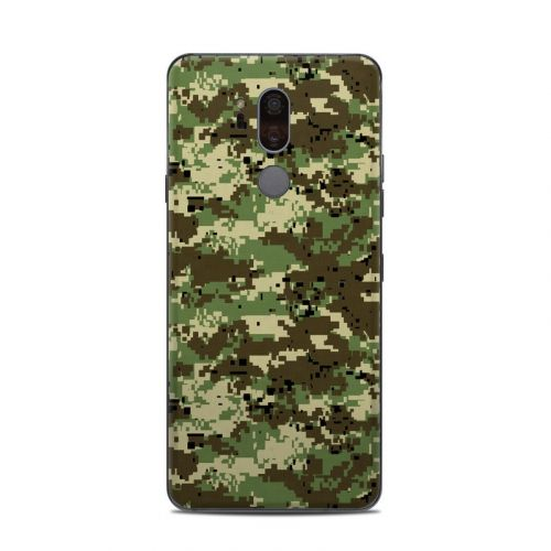 Digital Woodland Camo LG G7 ThinQ Skin