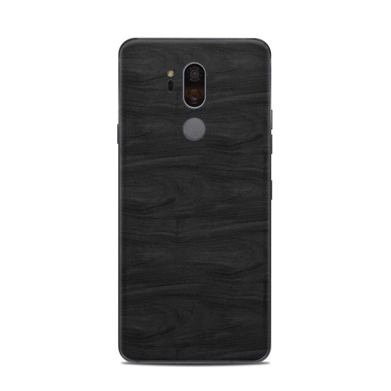 LG G7 ThinQ Skin design of Black, Brown, Wood, Grey, Flooring, Floor, Laminate flooring, Wood flooring with black colors