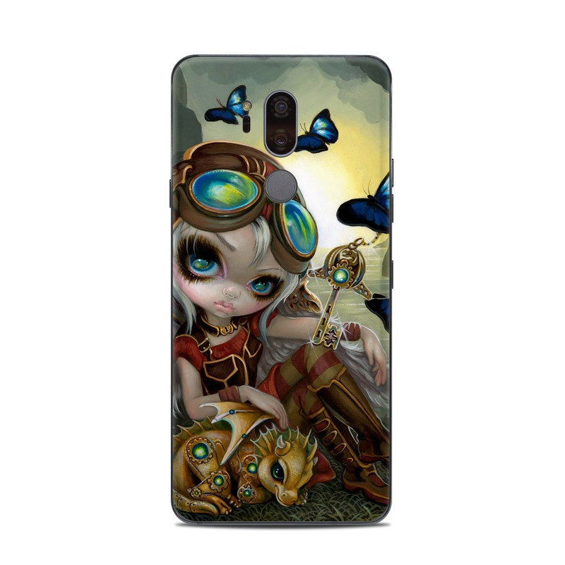 LG G7 ThinQ Skin design of Cg artwork, Illustration, Fictional character, Art, Mythology, Games, Massively multiplayer online role-playing game with black, green, red, yellow, brown, blue colors