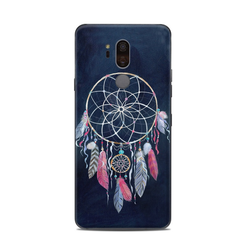 LG G7 ThinQ Skin design of Fashion accessory, Jewellery, Textile, Illustration, Turquoise, Art, Still life photography with blue, white, pink, yellow, orange, blue colors