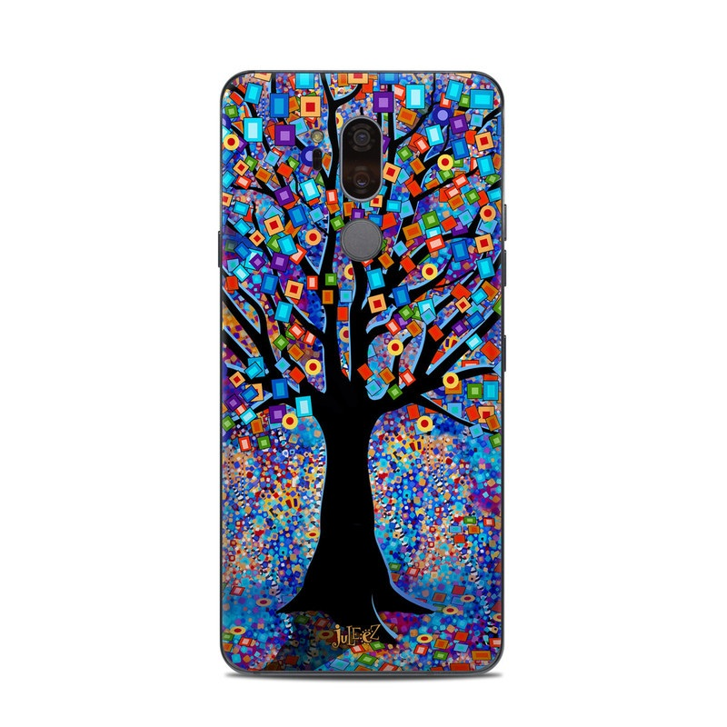 LG G7 ThinQ Skin design of Psychedelic art, Modern art, Art with black, blue, red, orange, yellow, green, purple colors