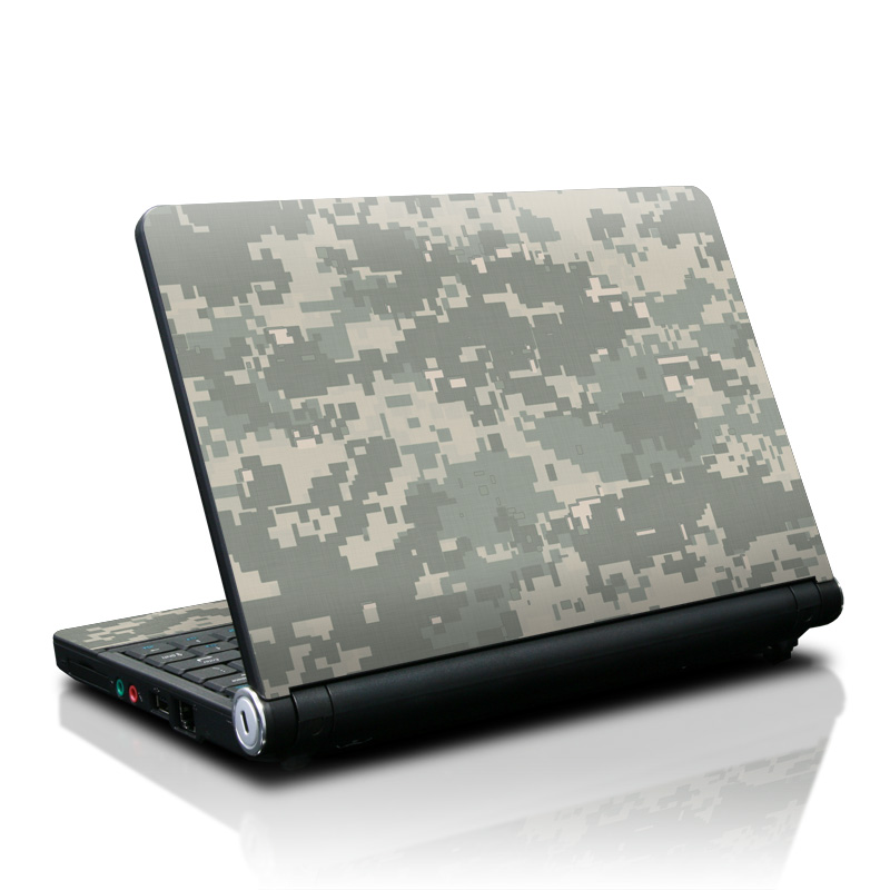 Lenovo IdeaPad S10 Skin design of Military camouflage, Green, Pattern, Uniform, Camouflage, Design, Wallpaper with gray, green colors