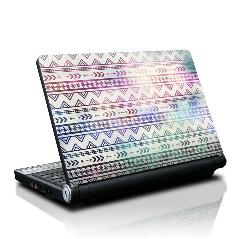 Lenovo IdeaPad S10 Skin design of Pattern, Line, Teal, Design, Textile with gray, pink, yellow, blue, black, purple colors