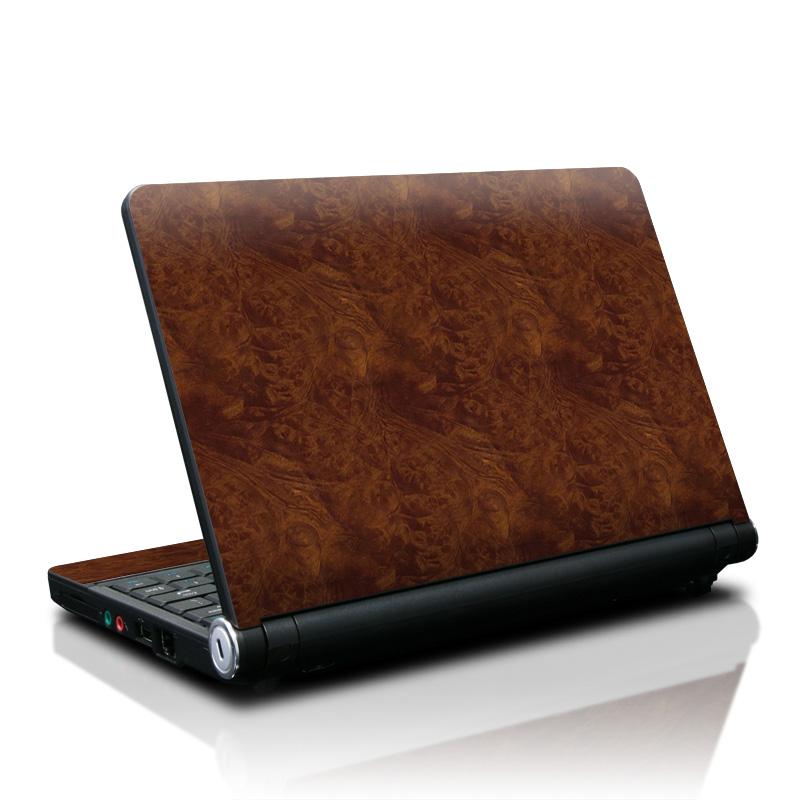Dark Burlwood Lenovo IdeaPad S10 Skin