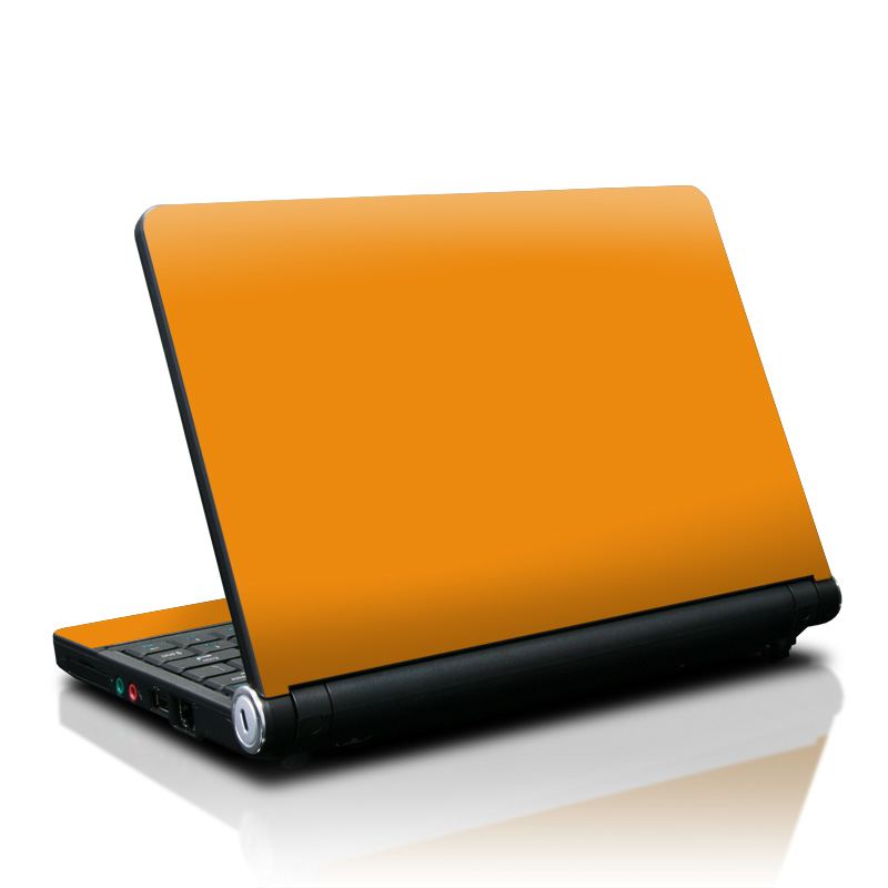 Lenovo IdeaPad S10 Skin design of Orange, Yellow, Brown, Text, Amber, Font, Peach with orange colors
