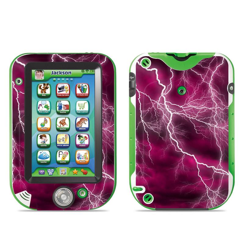 LeapFrog LeapPad Ultra Skin design of Thunder, Lightning, Thunderstorm, Sky, Nature, Purple, Red, Atmosphere, Violet, Pink with pink, black, white colors