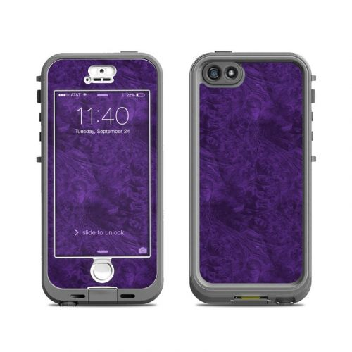 Purple Lacquer LifeProof iPhone SE, 5s nuud Skin