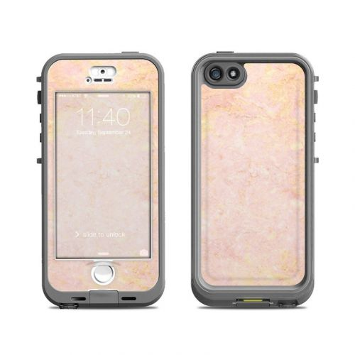 Rose Gold Marble LifeProof iPhone SE, 5s nuud Case Skin