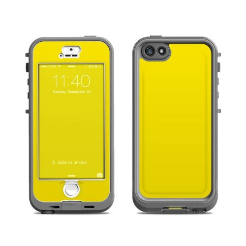 Solid State Yellow LifeProof iPhone SE, 5s nuud Case Skin