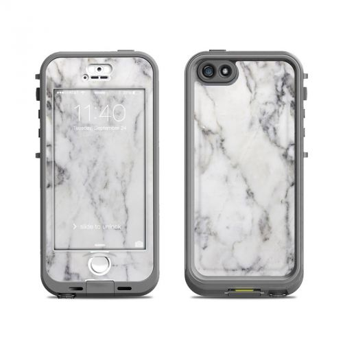 White Marble LifeProof iPhone SE, 5s nuud Case Skin