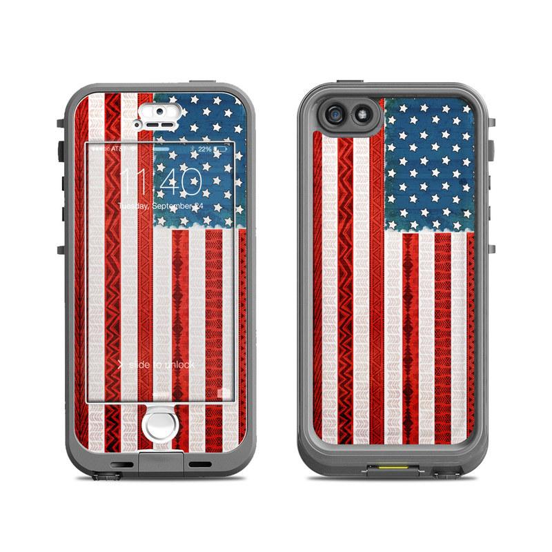 American Tribe LifeProof iPhone SE, 5s nuud Case Skin
