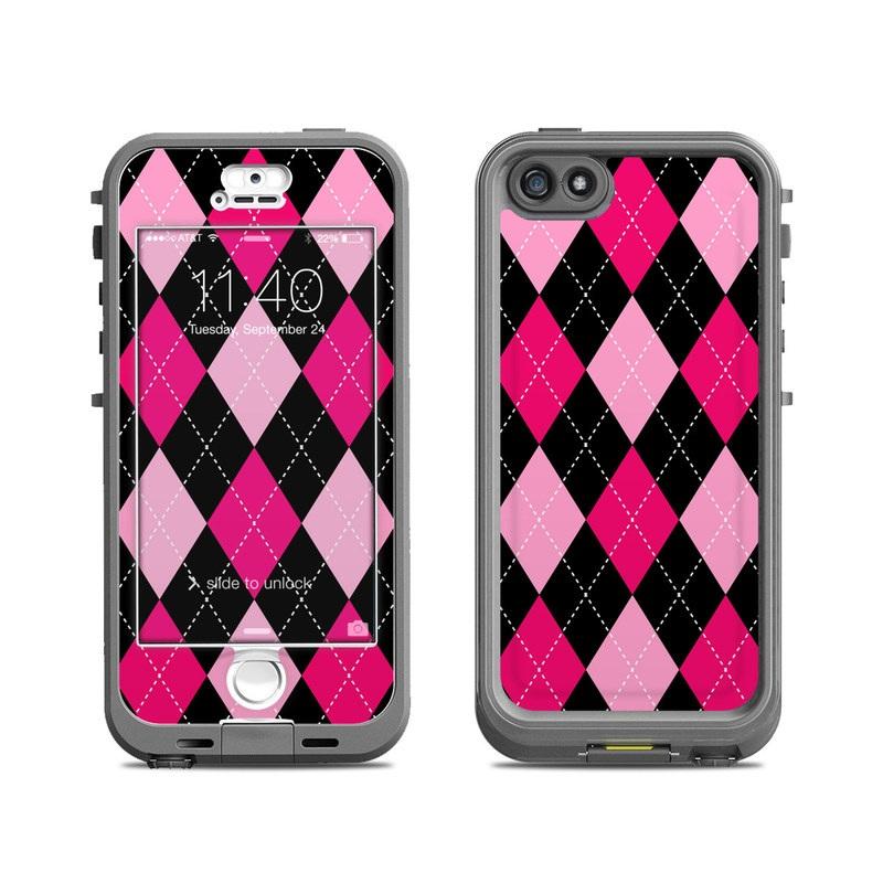 Argyle Style LifeProof iPhone SE, 5s nuud Case Skin