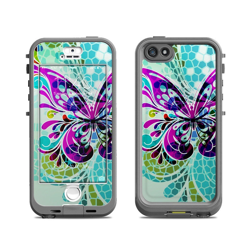 Butterfly Glass LifeProof iPhone SE, 5s nuud Skin