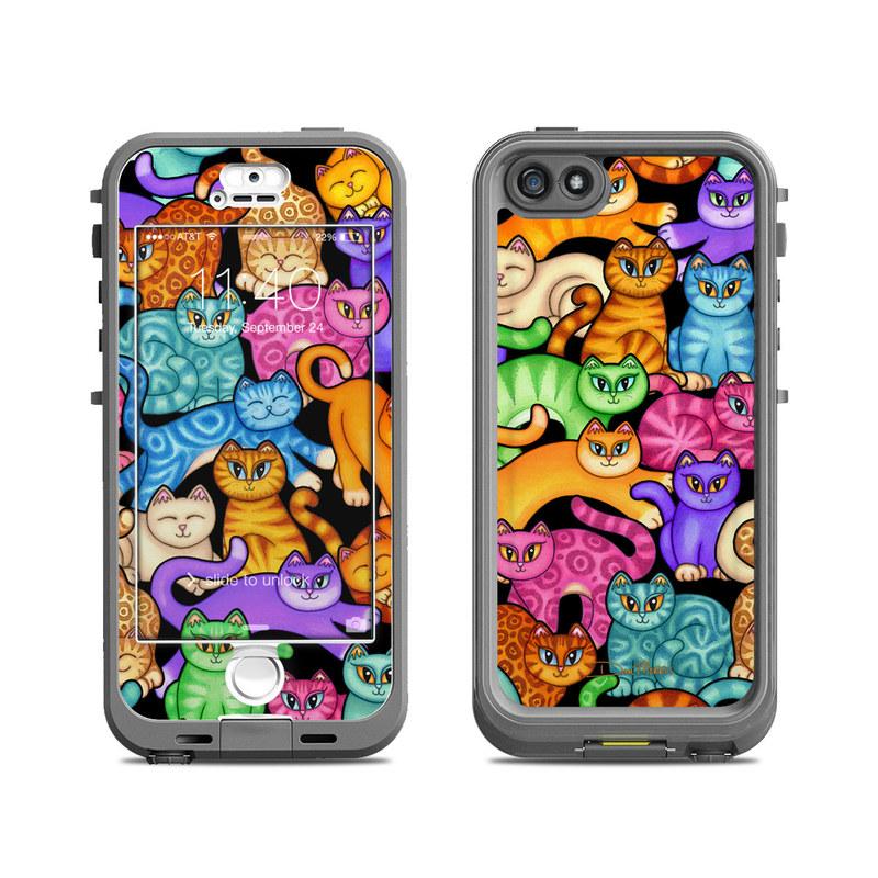 Colorful Kittens LifeProof iPhone SE, 5s nuud Skin