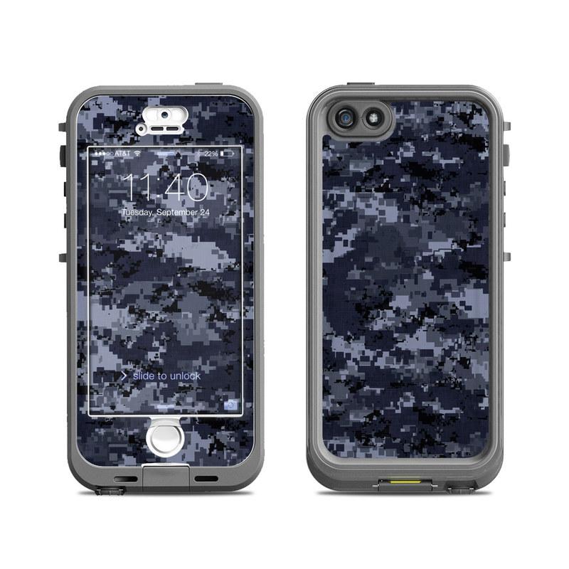 Digital Navy Camo LifeProof iPhone SE, 5s nuud Case Skin