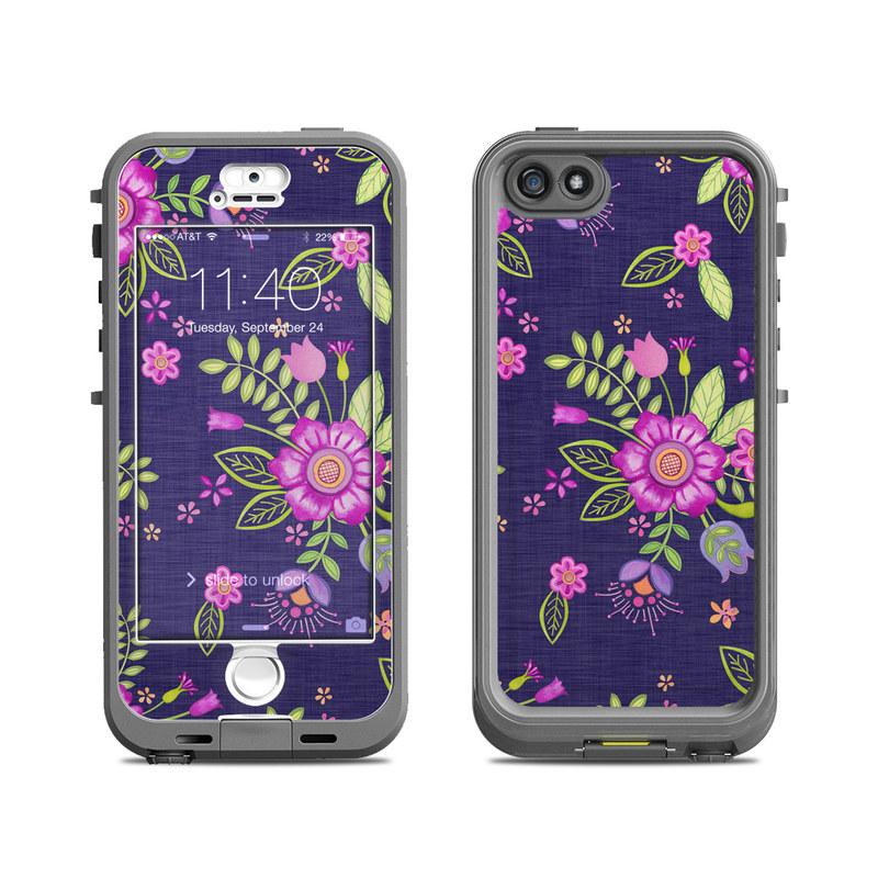 Folk Floral LifeProof iPhone SE, 5s nuud Skin