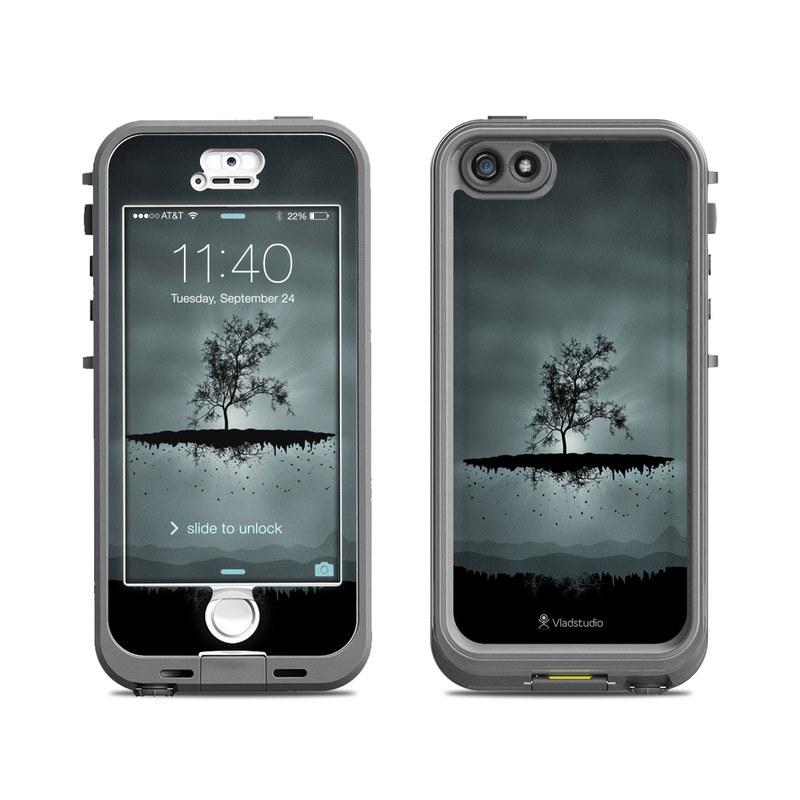 Flying Tree Black LifeProof iPhone SE, 5s nuud Skin