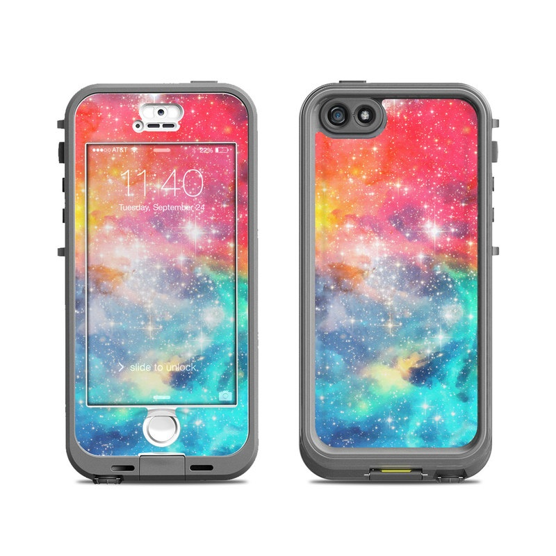 LifeProof iPhone SE 1st Gen, 5s nuud Case Skin design of Nebula, Sky, Astronomical object, Outer space, Atmosphere, Universe, Space, Galaxy, Celestial event, Star with white, black, red, orange, yellow, blue colors