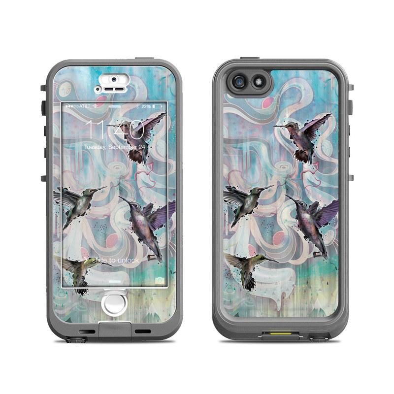 Hummingbirds LifeProof iPhone SE, 5s nuud Skin